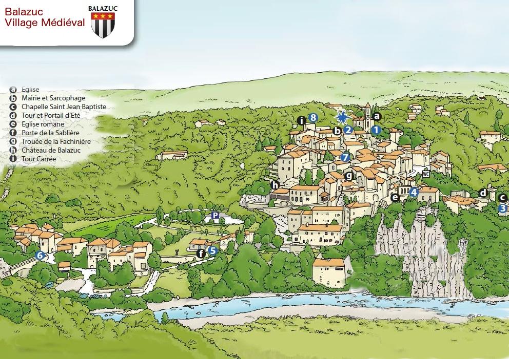 Plan de Balazuc-Ardèche