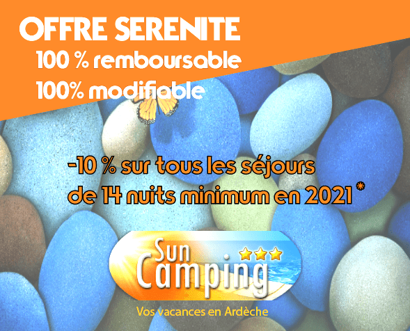 early booking camping ardeche 2021